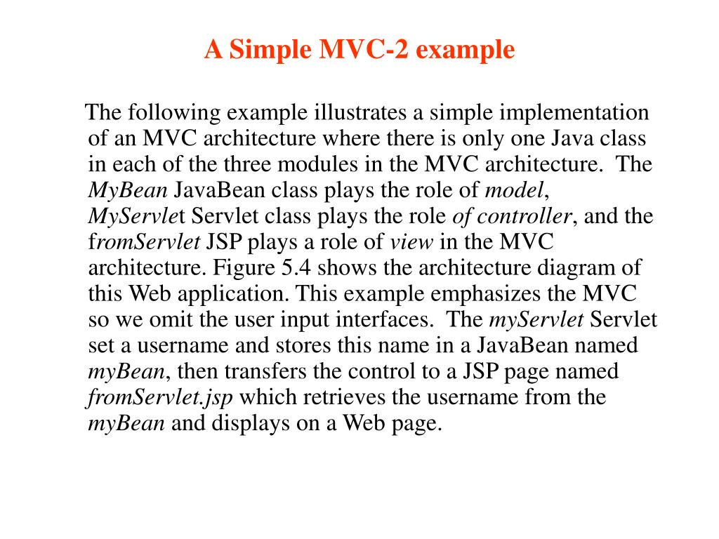 A Simple MVC-2 example