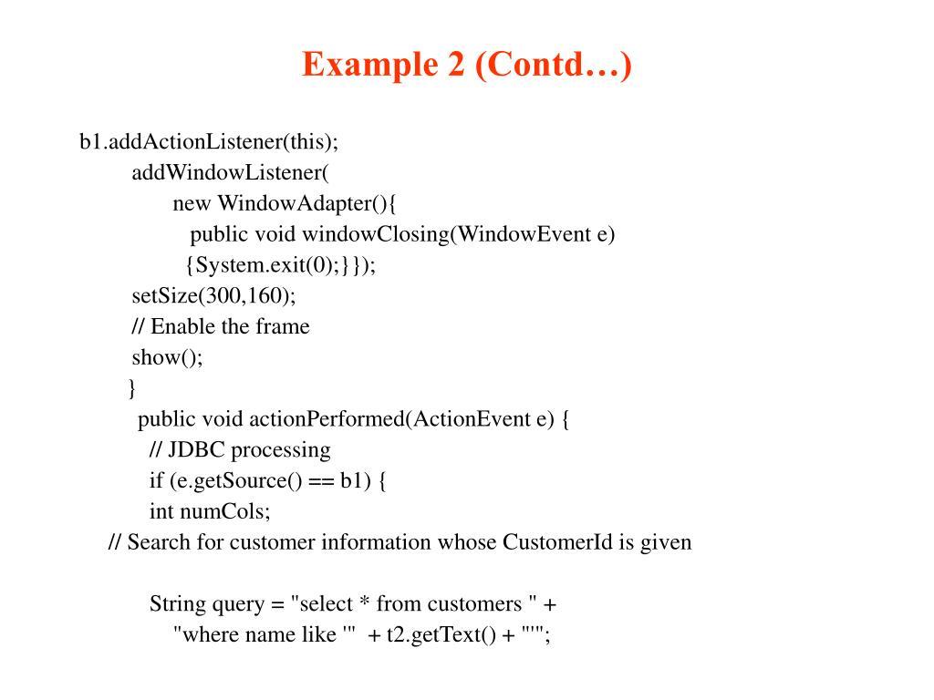 Example 2 (Contd…)