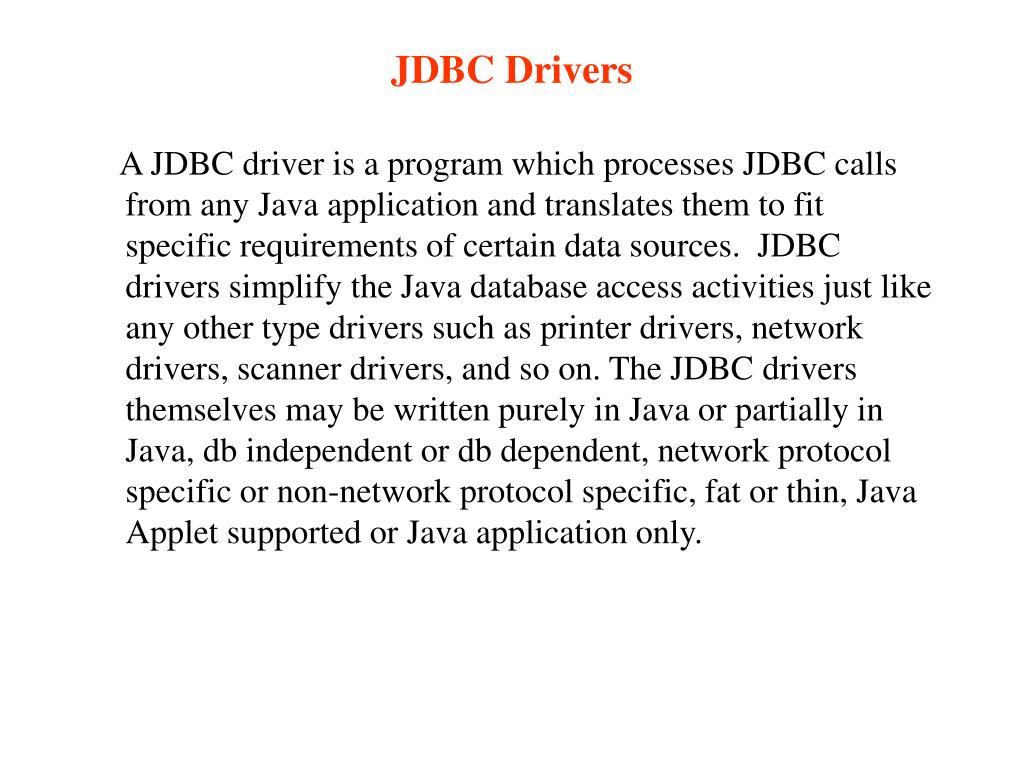 JDBC Drivers