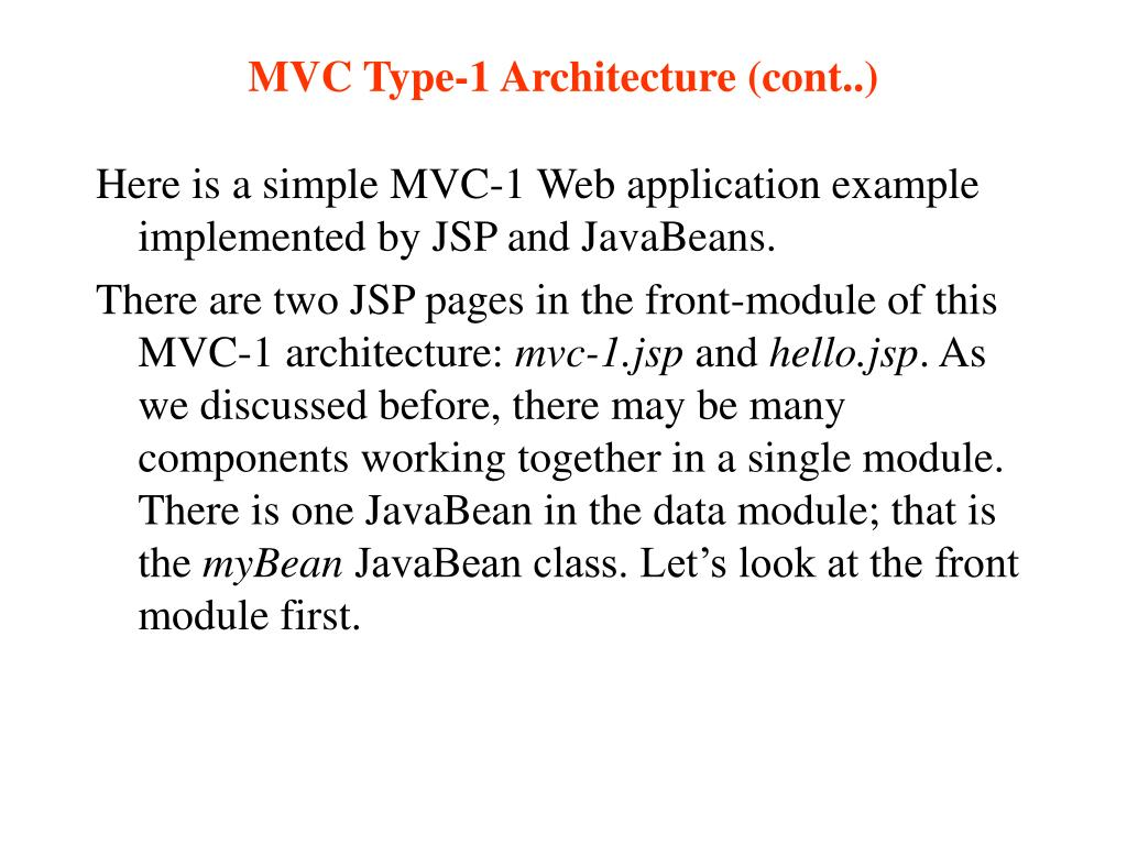 MVC Type-1 Architecture