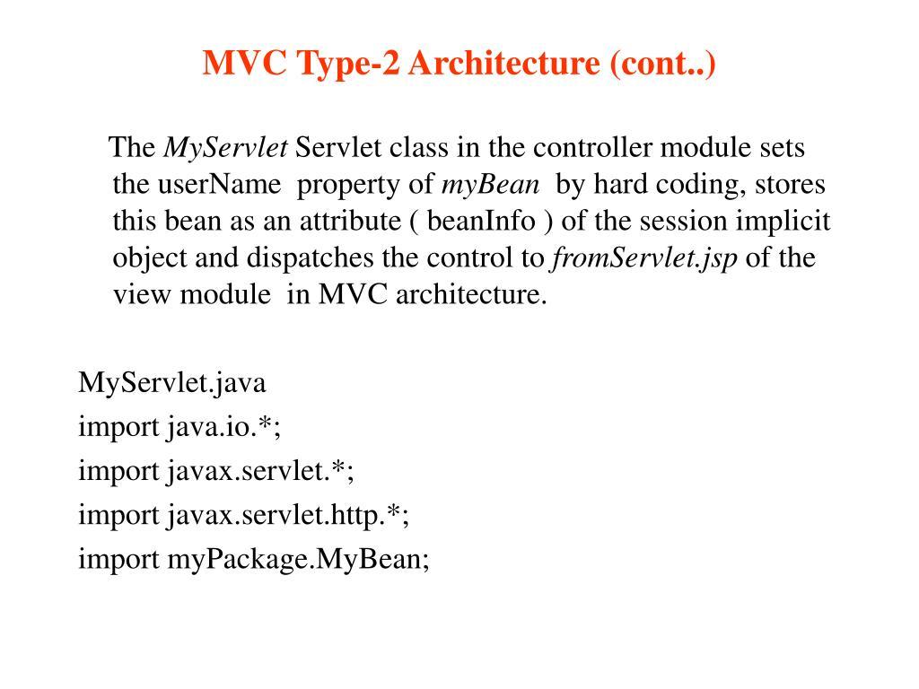 MVC Type-2 Architecture