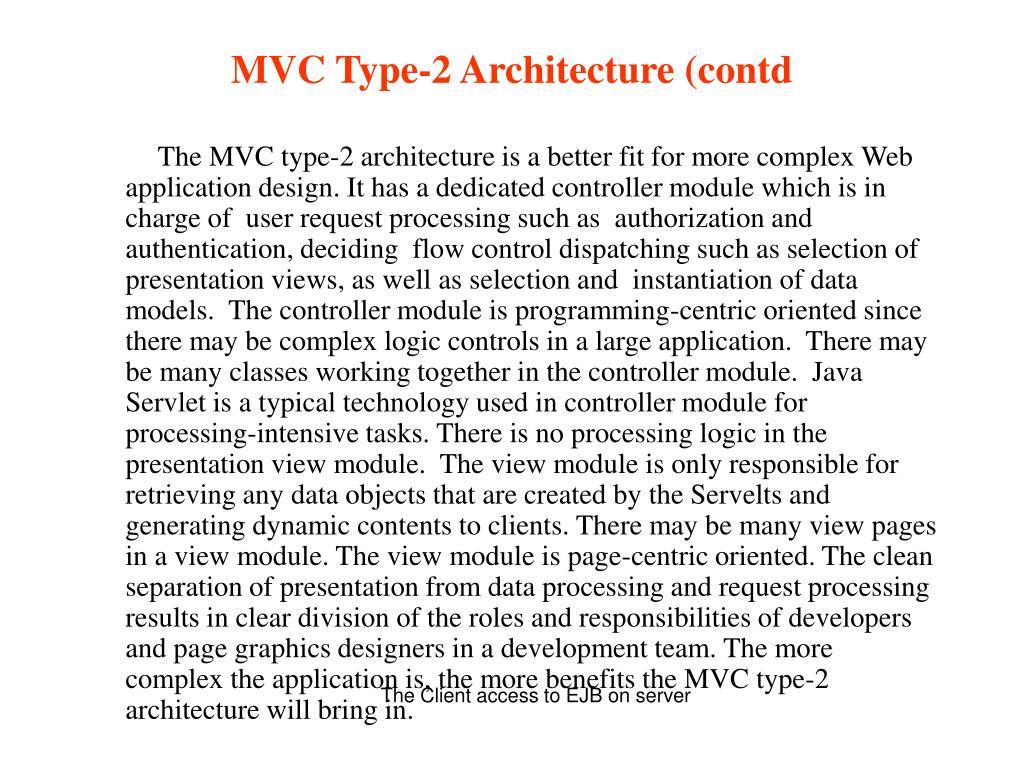 MVC Type-2 Architecture (contd