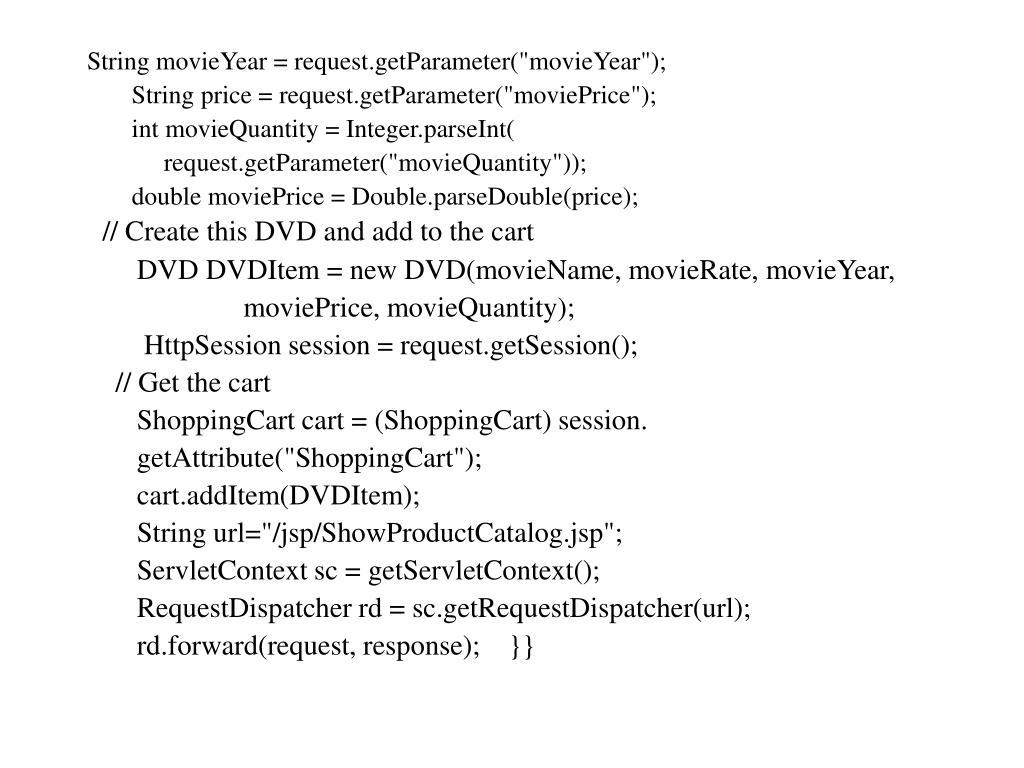"String movieYear = request.getParameter(""movieYear"");"