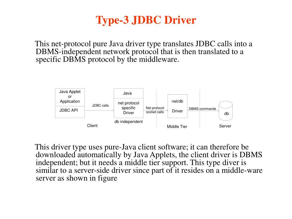 Type-3 JDBC Driver