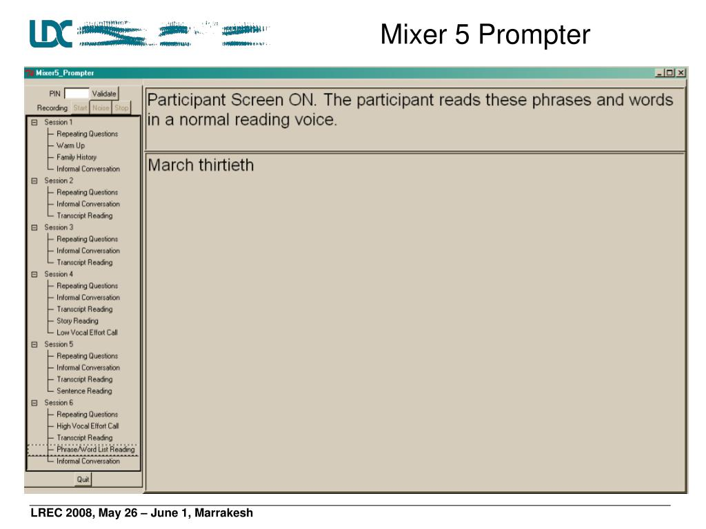 Mixer 5 Prompter