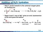 addition of h 2 o hydration35