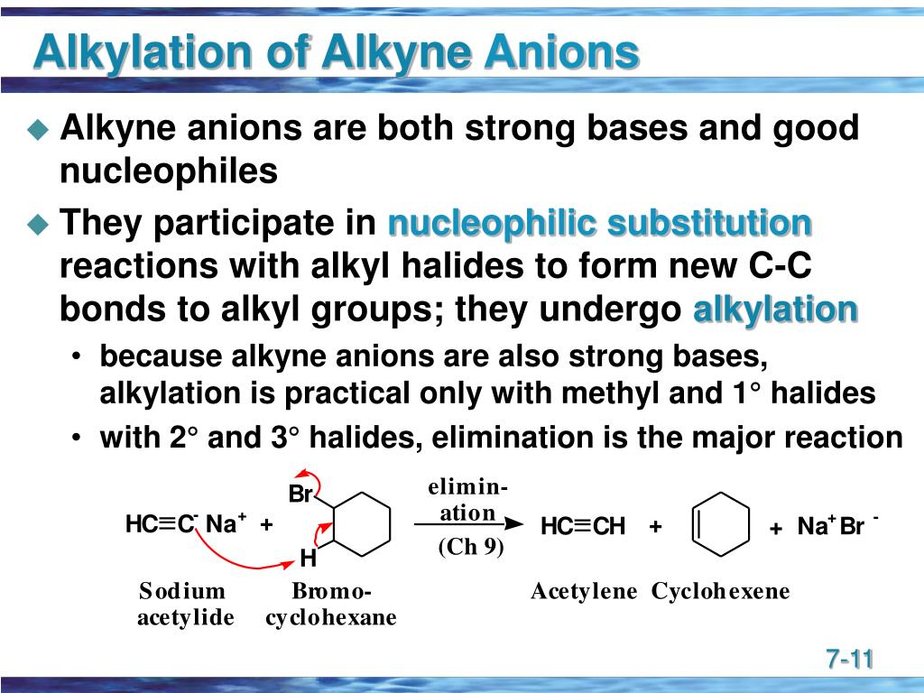 Alkylation of Alkyne