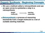 organic synthesis beginning concepts45