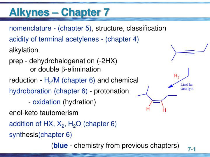 Alkynes – Chapter 7
