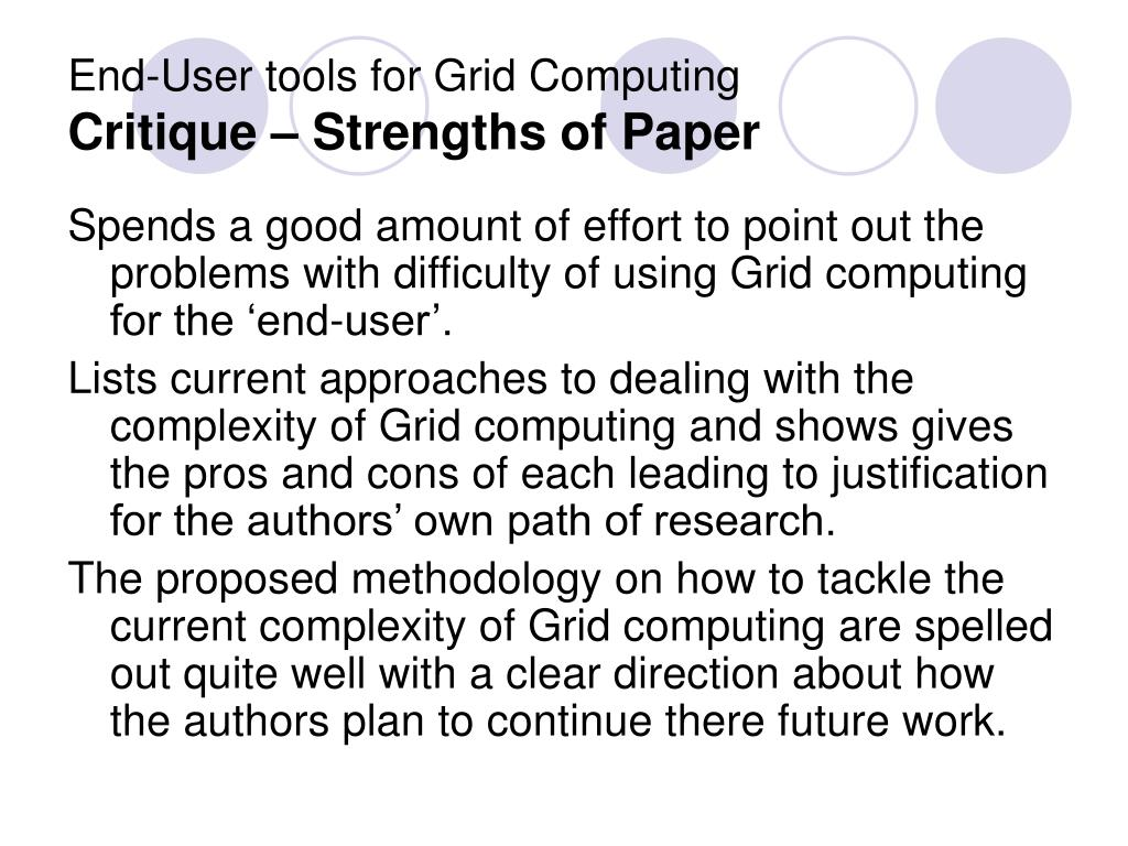 latest research paper on grid computing Security issues in grid computing in this brief overview the author provides key grid security issues and outlines a new method to research in grid computing is.