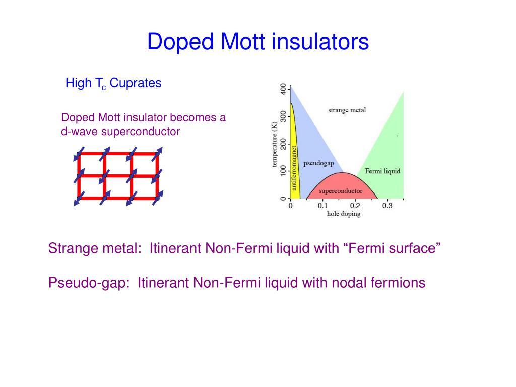 Doped Mott insulators