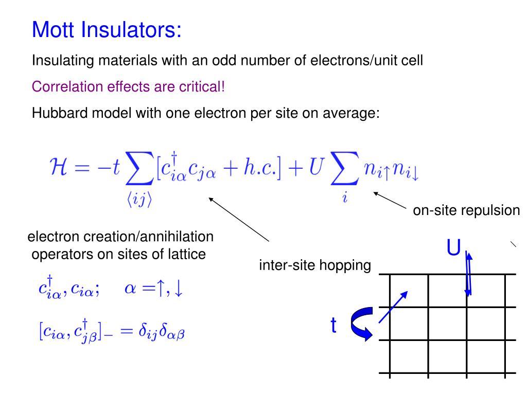 Mott Insulators: