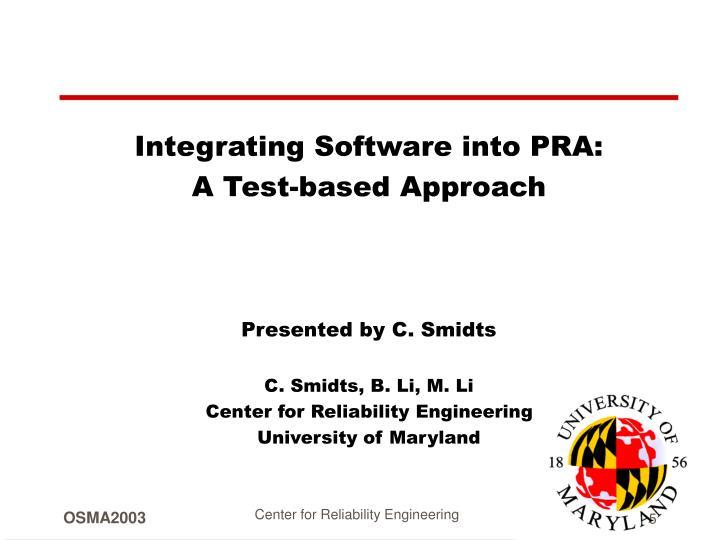Integrating Software into PRA: