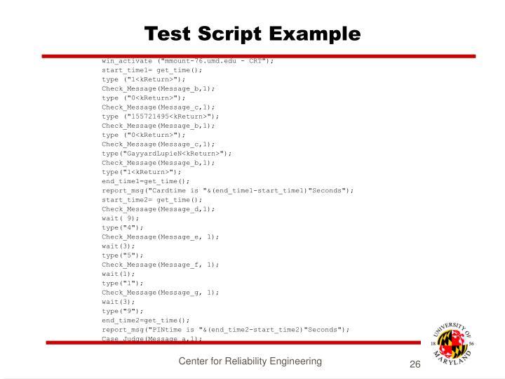 Test Script Example