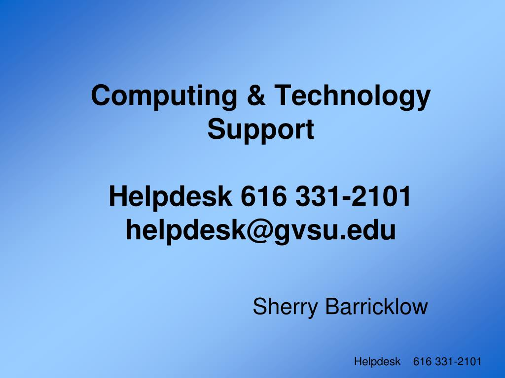 Computing & Technology Support