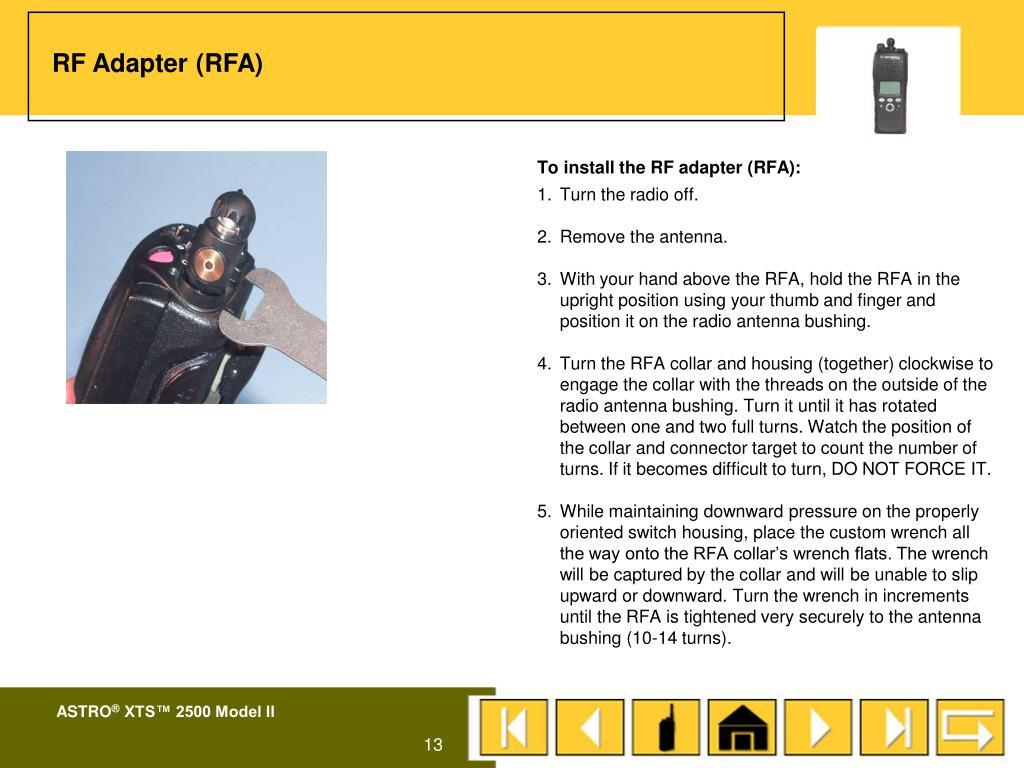 RF Adapter (RFA)