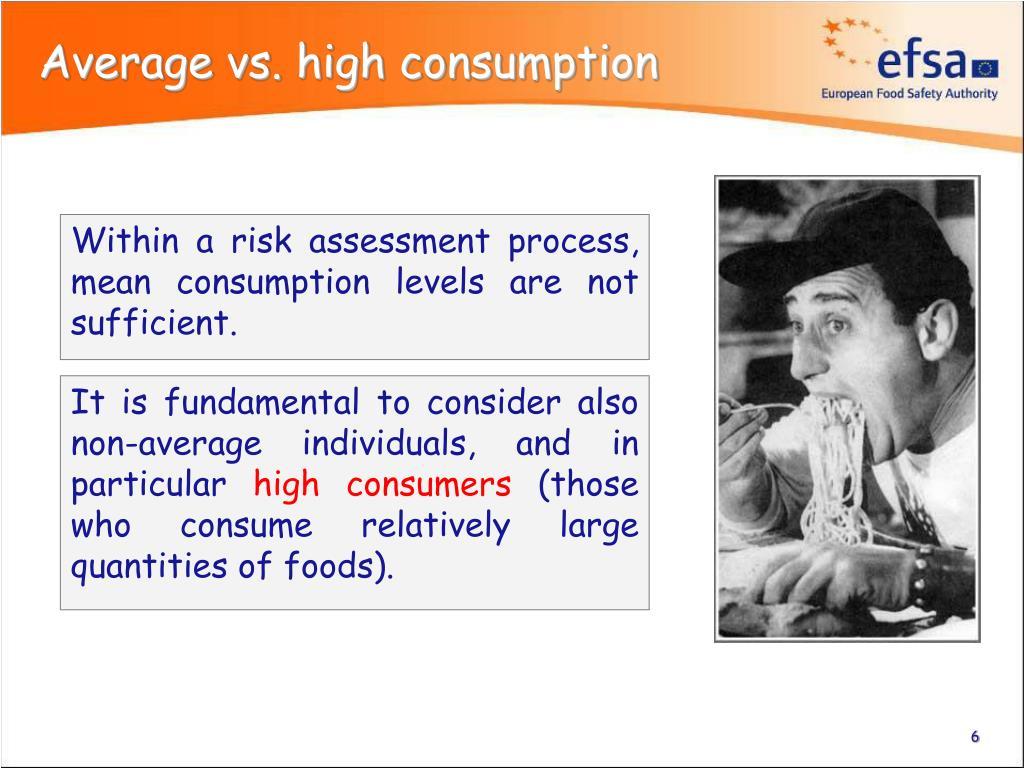 Average vs. high consumption
