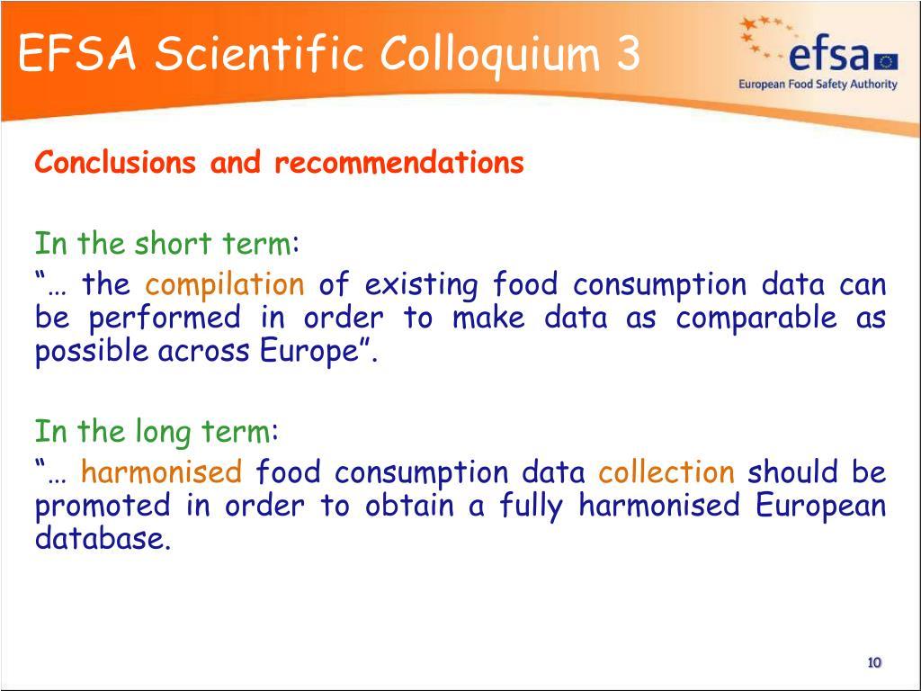 EFSA Scientific Colloquium 3
