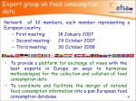 expert group on food consumption data