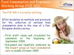 food consumption and exposure working group fce wg