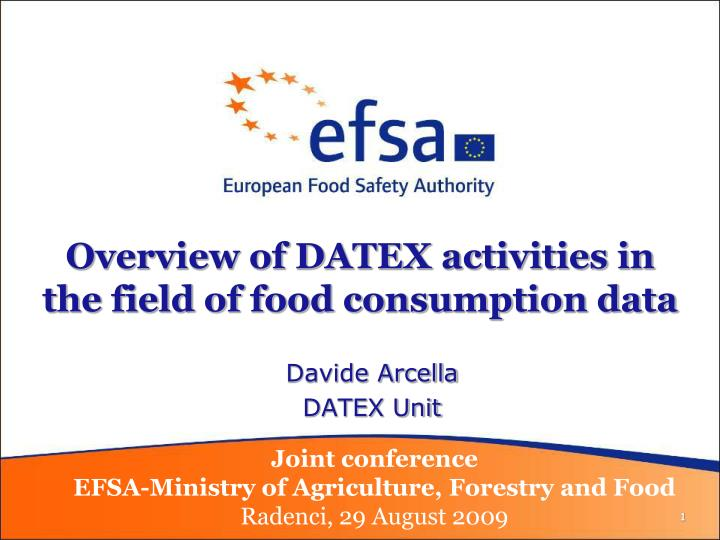 Overview of datex activities in the field of food consumption data l.jpg