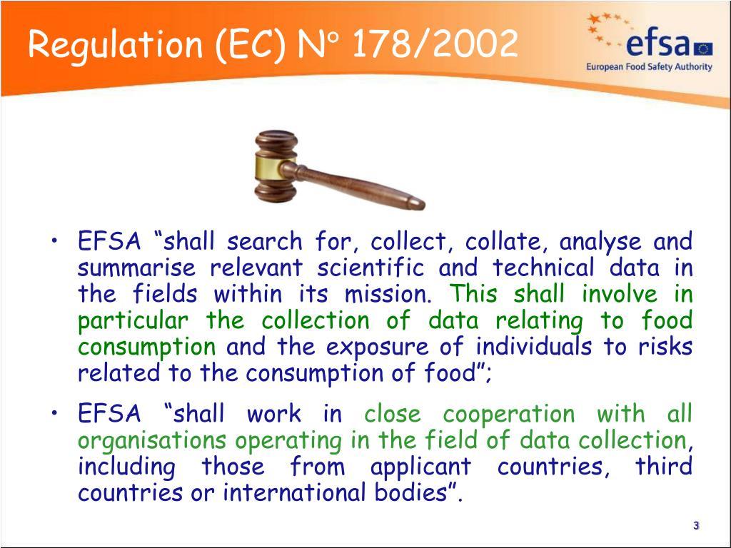 Regulation (EC) N° 178/2002