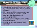 network is insecure