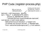 php code register process php