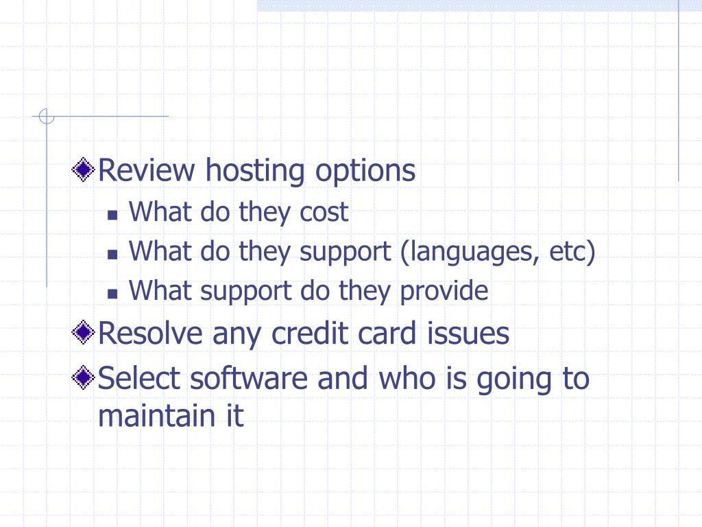 Review hosting options