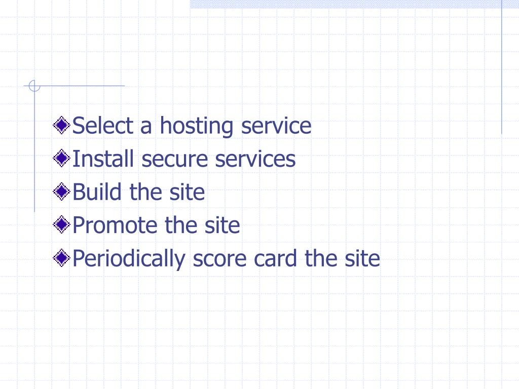 Select a hosting service