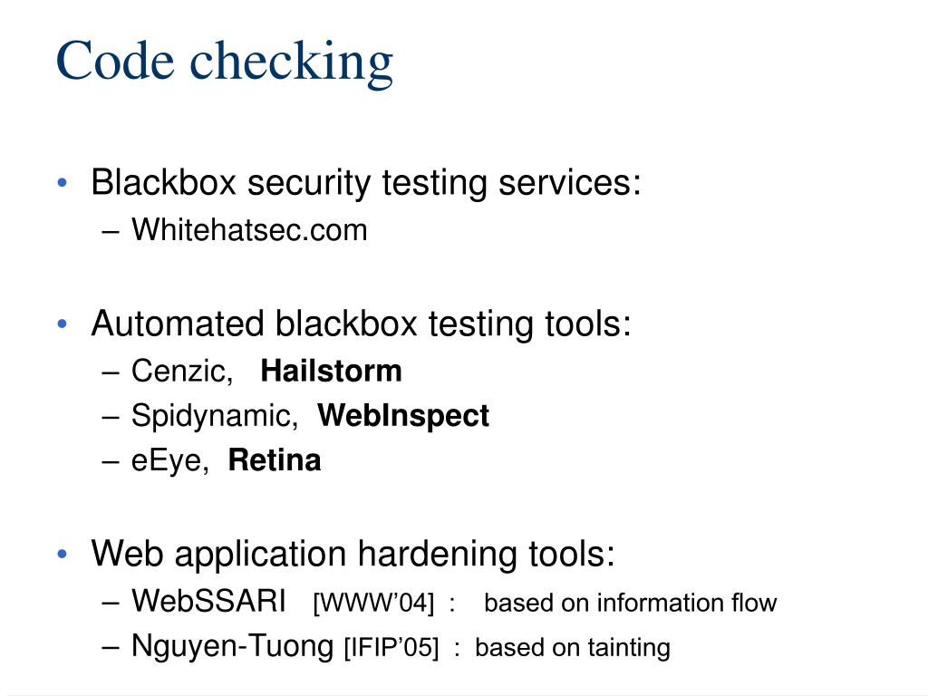 Code checking