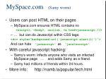 myspace com samy worm