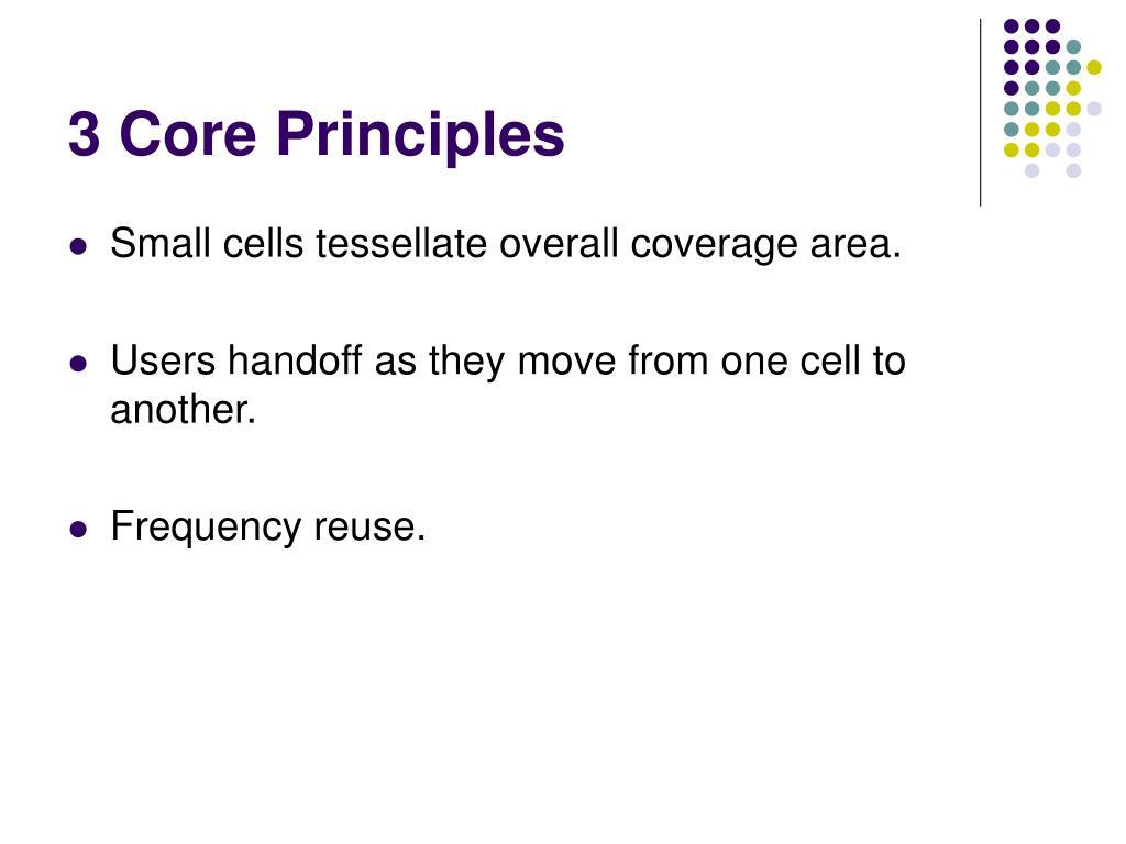 3 Core Principles