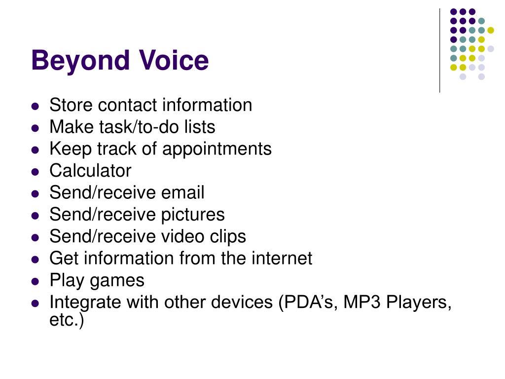 Beyond Voice