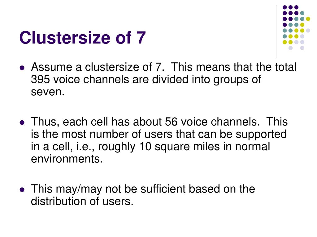 Clustersize of 7