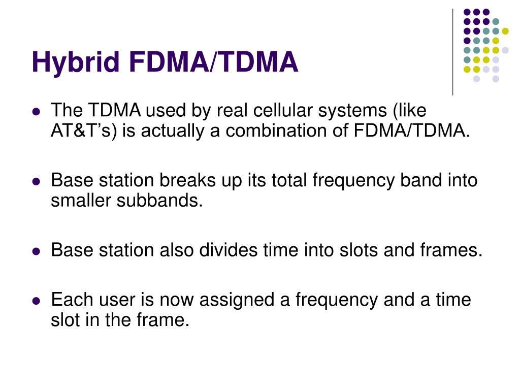 Hybrid FDMA/TDMA