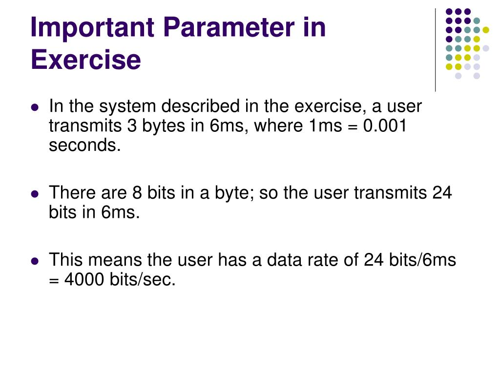 Important Parameter in Exercise