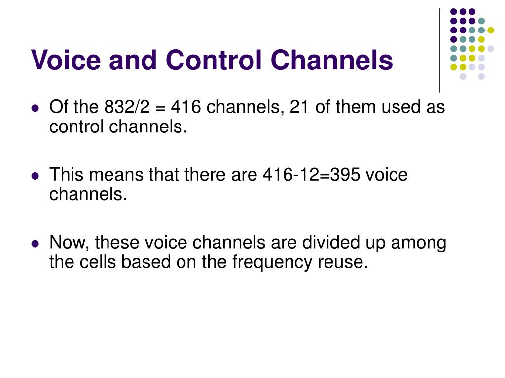 Voice and Control Channels