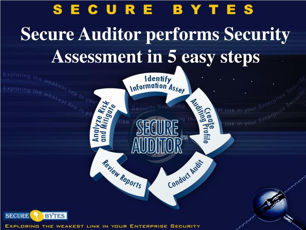 Secure Auditor performs Security Assessment in 5 easy steps