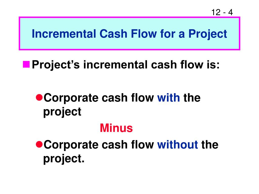 Incremental Cash Flow for a Project