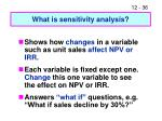 what is sensitivity analysis