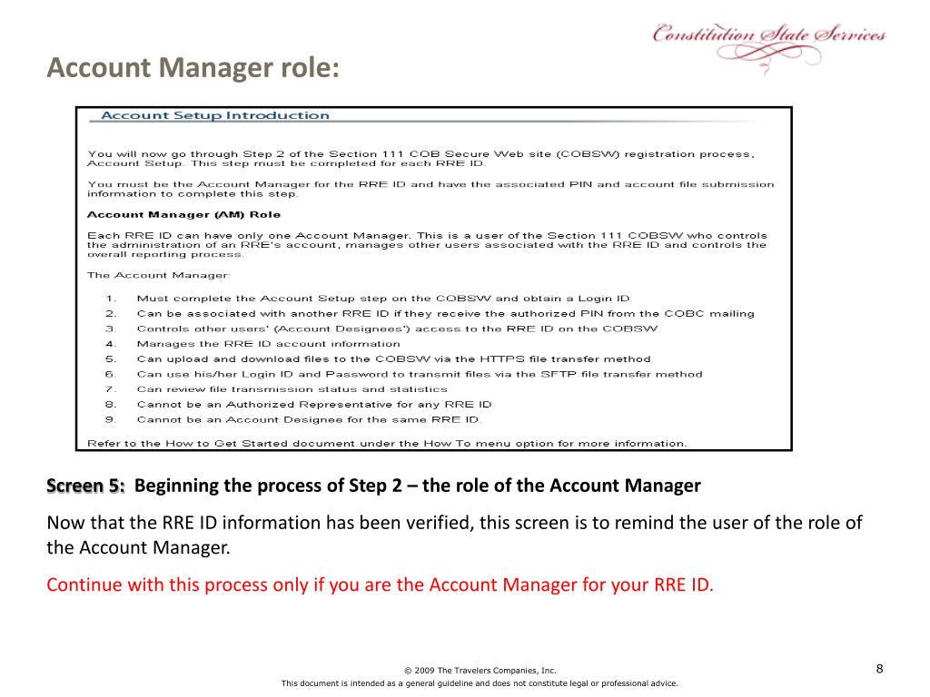 Account Manager role: