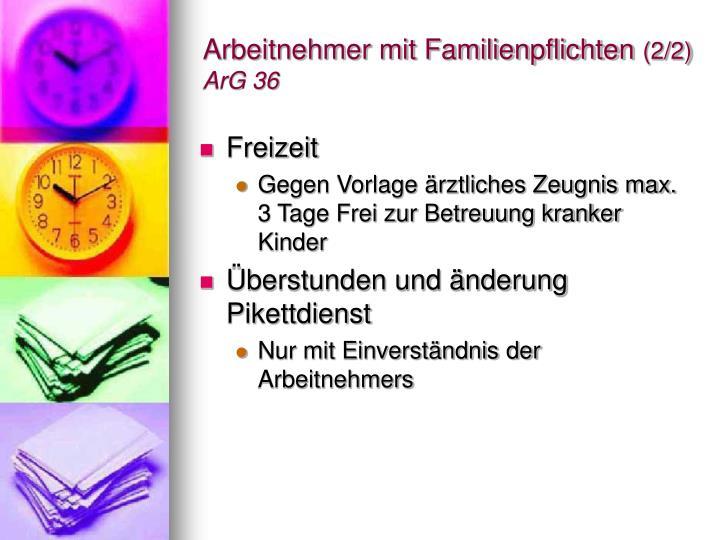 Arbeitnehmer mit Familienpflichten
