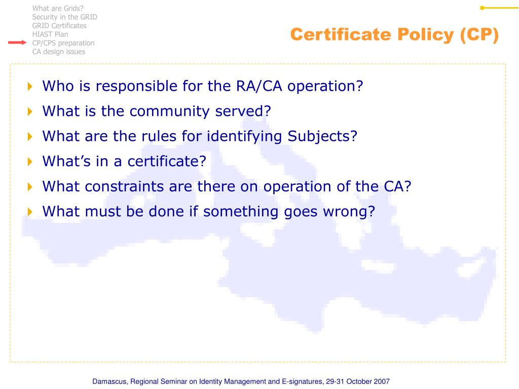 Certificate Policy (CP)