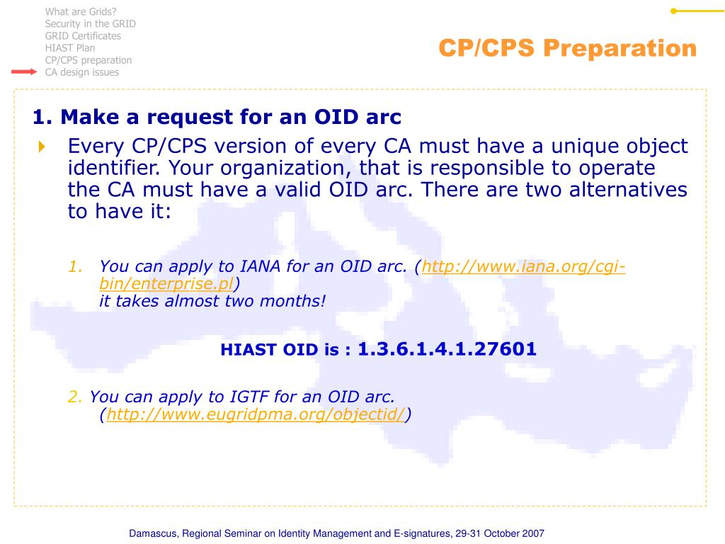 CP/CPS Preparation