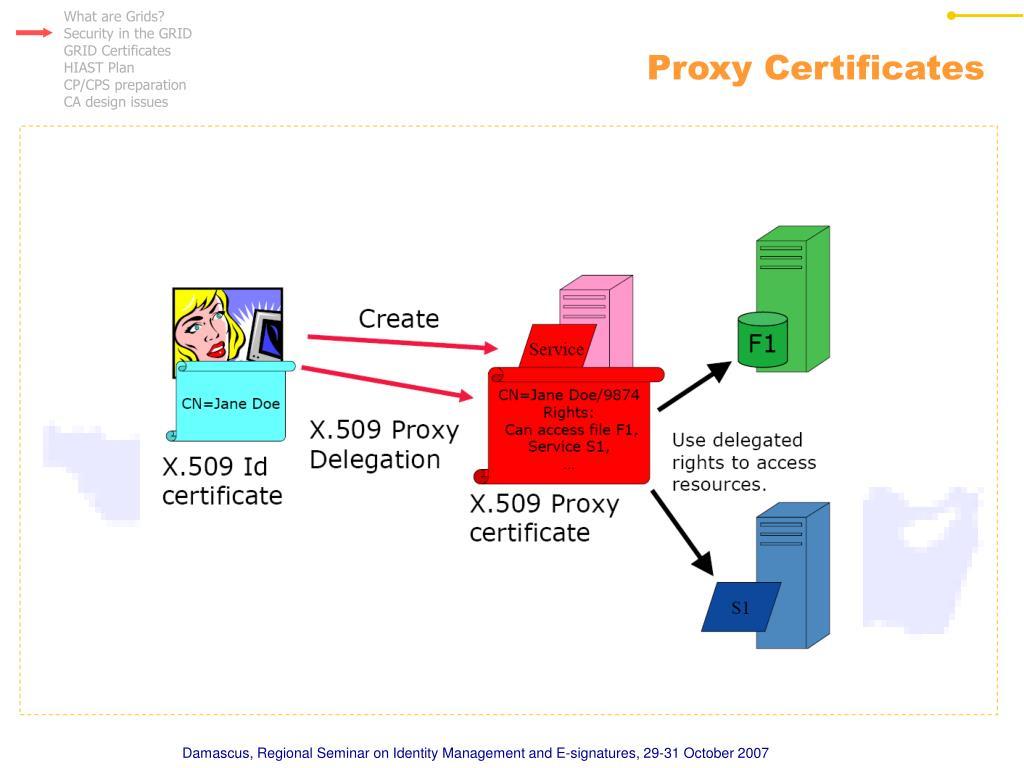 Proxy Certificates