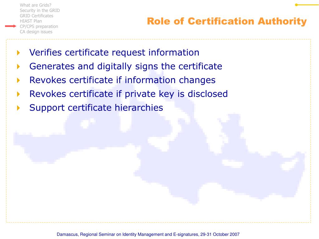 Role of Certification Authority