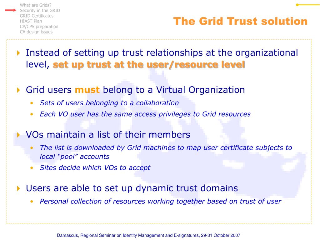 The Grid Trust solution