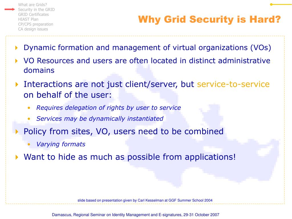 Why Grid Security is Hard?
