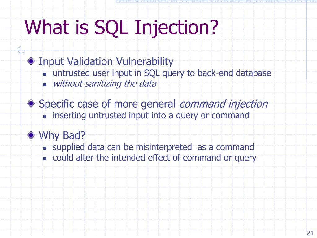What is SQL Injection?